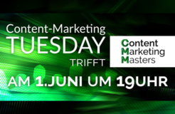 Content Marketing Tuesday trifft Content Marketing Masters – jetzt anmelden!