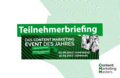 Gut vorbereitet auf die Content Marketing Masters – Teilnehmerbriefing